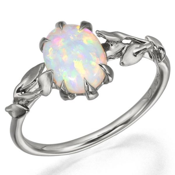 black opal plated topaz rhodium fire engagement ring white rings mystic shop
