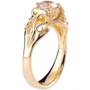 Vintage Engagement Ring Yellow Gold and Diamond ENG18