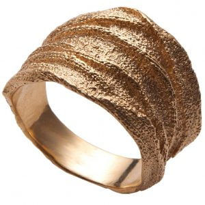 Golden Rag Wedding Band Rose Gold 3