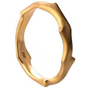 Twig Wedding Band Yellow Gold 7W