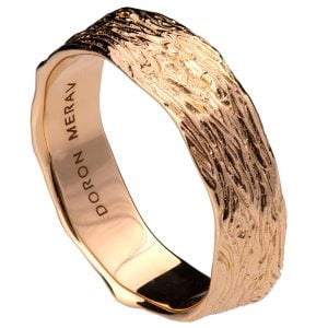 Twig Wedding Band Rose Gold 9