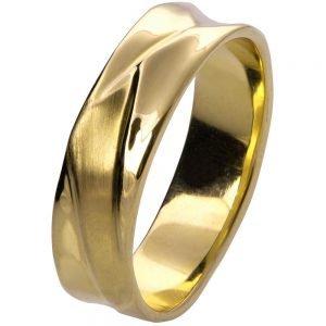 Wave Wedding Band Yellow Gold 5