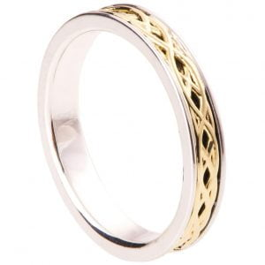 Celtic Wedding Band Yellow Gold 9T
