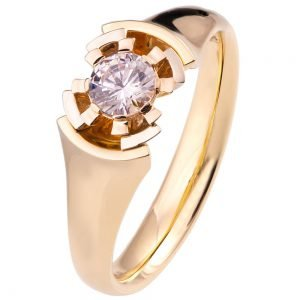 Tricolor Engagement Ring ENG28