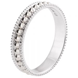 Milgrain Wedding Band White Gold R030