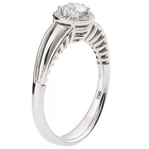 Engagement Ring White Gold and Diamond ENG27