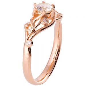 Knot Engagement Ring Rose Gold and Diamond ENG17