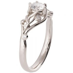 Knot Engagement Ring Platinum and Diamond ENG17