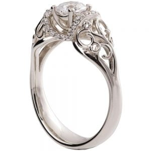 Vintage Engagement Ring Platinum and Diamond ENG18