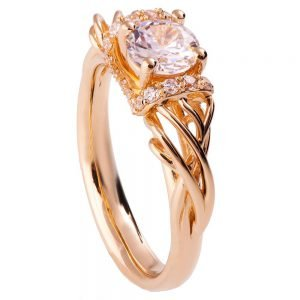 Vintage Engagement Ring Rose Gold and Diamond ENG21