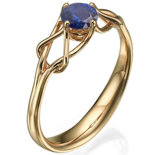 a43b34a3e8e Celtic Engagement Ring Rose Gold and Sapphire ENG10