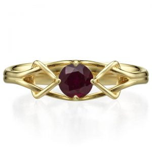Celtic Engagement Ring Platinum and Ruby ENG10