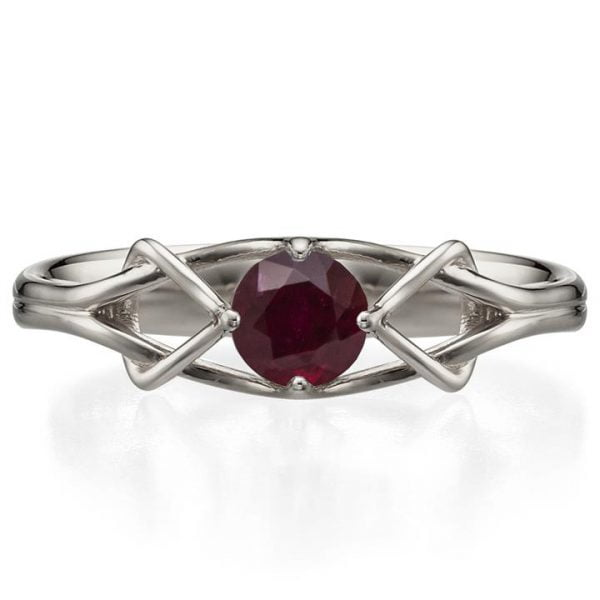 423e1742c80 Celtic Engagement Ring White Gold and Ruby ENG10