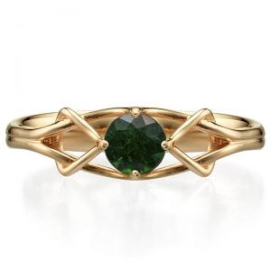 Celtic Engagement Ring Platinum and Emerald ENG10