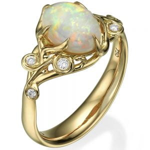 Opal Ring Yellow Gold 17