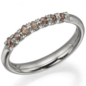 Raw Diamond Half Eternity Ring Platinum