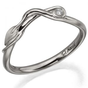 Leaves Diamond Ring Platinum
