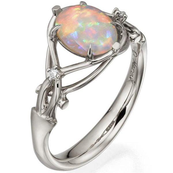 d3978b64c593d9 Opal and Diamonds Engagement Ring Platinum 9. Metal. Rose Gold