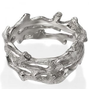 Twig Wedding Band White Gold 12