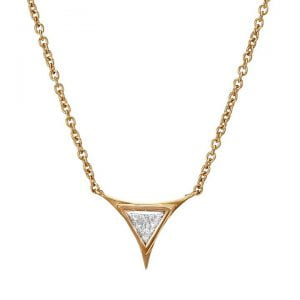 Triangle Pendant White Gold and Diamond 2