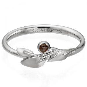 Raw Diamond Leaf Ring Platinum 1 Catalogue