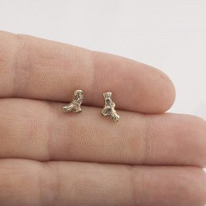Twig Stud Earrings Rose Gold
