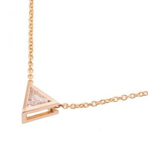 Triangle Pendant Rose Gold and Diamond