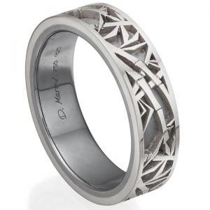 Bamboo Wedding Band Platinum