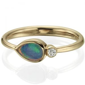 Opal and Diamond Rose Gold Ring 5