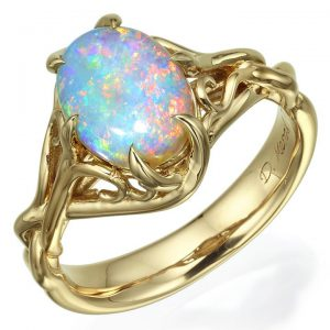 Opal Celtic Engagement Ring Yellow Gold 10 Catalogue