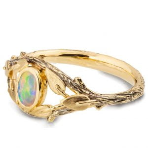 Twig and Leaves Australian Opal Ring