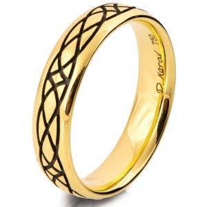 Celtic Wedding Band Yellow Gold Catalogue
