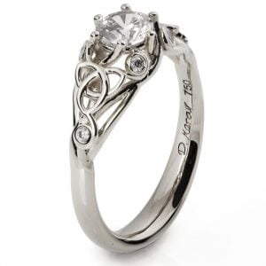 Knot Engagement Ring White Gold and Diamond